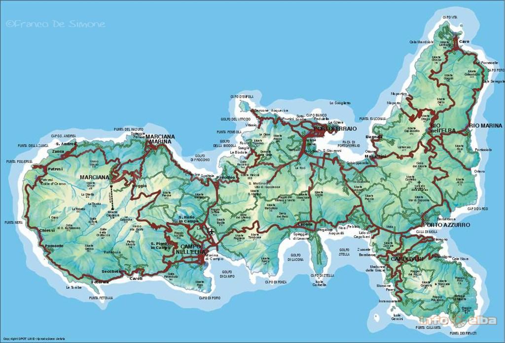 elba karte Karten und Pläne der Insel Elba
